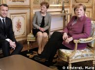 Під час останньої зустрічі Макрона та Меркель у Парижі, березень 2018