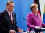 Стефан Лёвен и Ангела Меркель