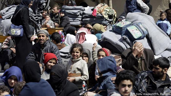 Syrien Flüchtlinge aus Ost-Ghuta