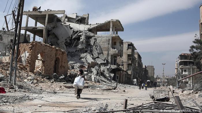 Наслідки бомбардувань у Східній Гуті