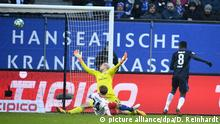 Fussball Bundesliga Hamburger SV - Hertha BSC - Tor 1:2
