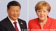 Angela Merkel and Xi Jinping (picture alliance/augenklick/S. Minkoff)