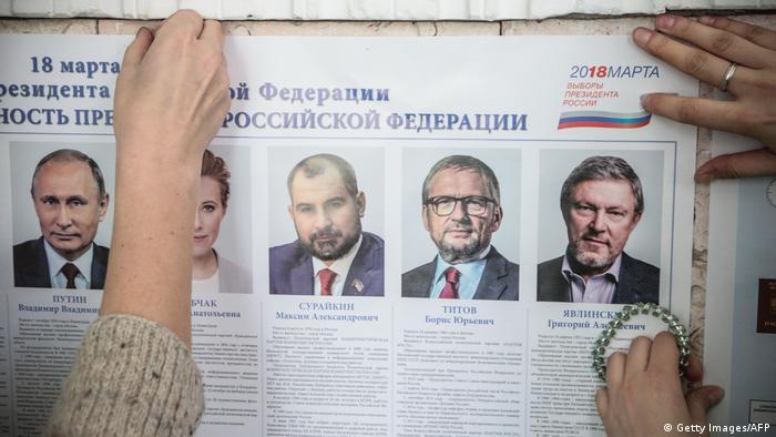 Wahlen Russland 2018 - Wahlstation - Kandidatenliste