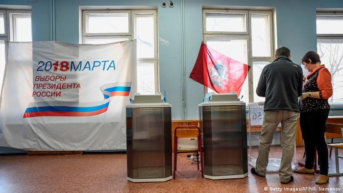 Wahlen Russland 2018 - Wahlstation (Getty Images/AFP/A. Nemenov)