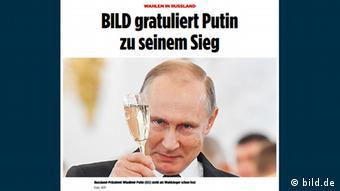 Vladimir Putin en el diario alemán Bild.
