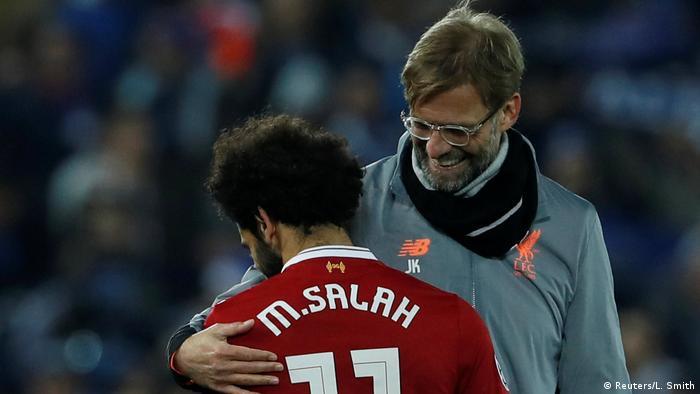 UK Mohamed Salah und Jürgen Klopp