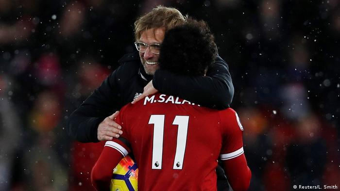 UK Mohamed Salah und Jürgen Klopp (Reuters/L. Smith)