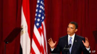 U.S. President Barack Obama delivers a speech at Cairo University, Thursday, June 4, 2009, in Cairo, Egypt.