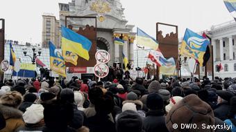 Ukraine - Kundgebung von Saakaschwilis Unterstützer in Kiew