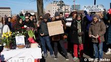 Gedenken an die brasilianische errmordete Politikerin Marielle Franco aus Rio de Janeiro in Berlin