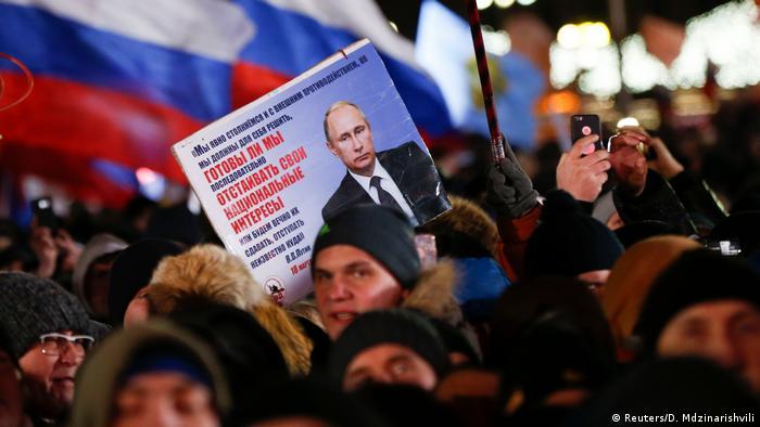 Manifestación en apoyo a Putin