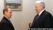 Boris Yeltsin and Vladimir Putin