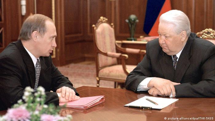 Russland Boris Jelzin and Wladimir Putin 1999