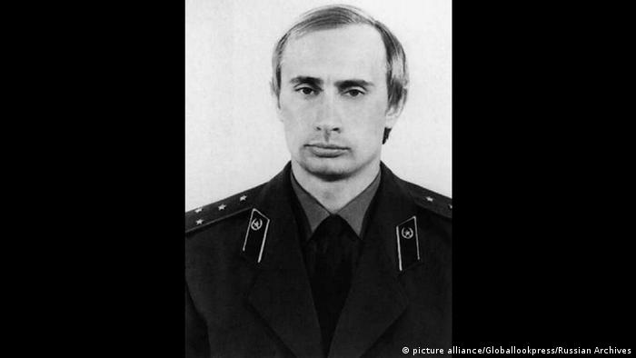 Vladimir Putin in a KGB uniform