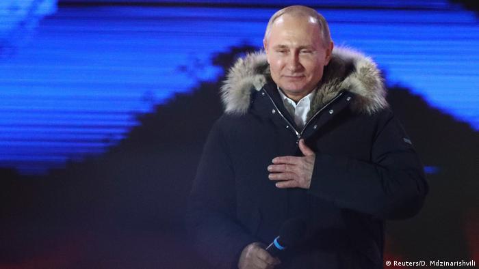Russland Wahlen 2018 - Wahlsieg für Putin (Reuters/D. Mdzinarishvili)