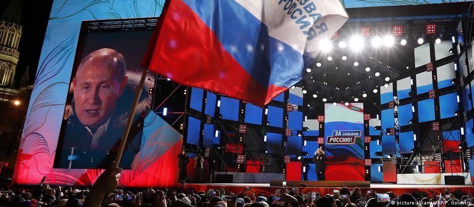 Putin discursa em Moscou após a confirmação da vitória