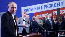 Russian President and Presidential candidate Vladimir Putin attends a news conference at his campaign headquarters in Moscow, Russia March 18, 2018. Sputnik/Alexei Druzhinin/Kremlin via REUTERS ATTENTION EDITORS - THIS IMAGE WAS PROVIDED BY A THIRD PARTY.