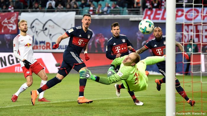Bundesliga - RB Leipzig vs Bayern Mächen Sandro Wagner Tor