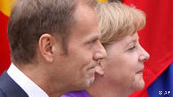 Angela Merkel and Donald Tusk