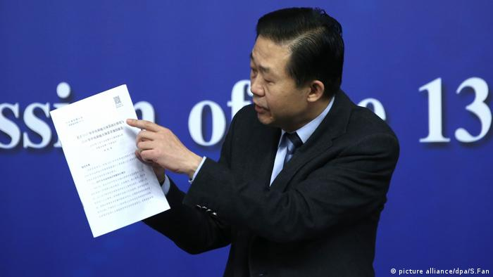 Chinese Finance Minister Xiao Jie (picture alliance/dpa/S.Fan)