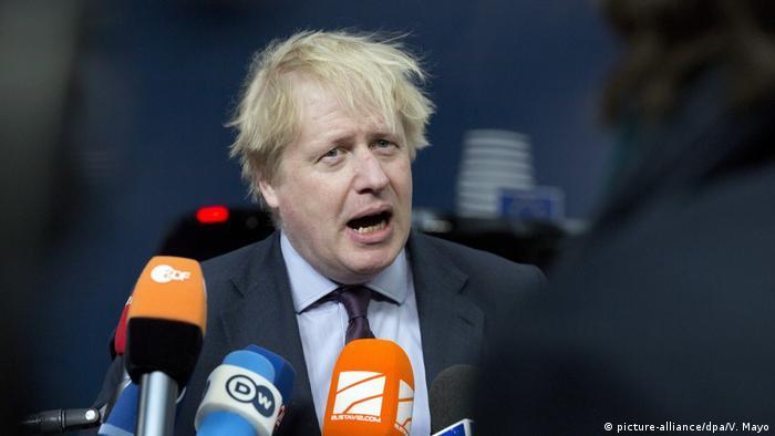 EU-Außenministertreffen Brüssel Boris Johnson (picture-alliance/dpa/V. Mayo)