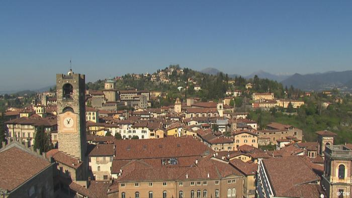 Bergamo city view