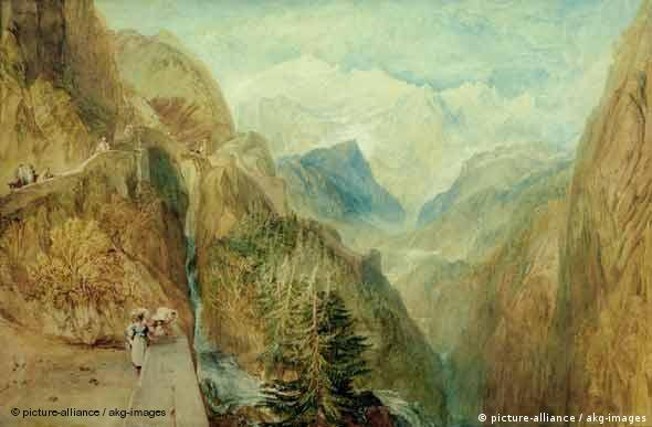 William Turner, Mont Blanc from Fort Roch in the Val d'Aosta - Aquarell, um 1804, 66 x 100 cm, Privatsammlung (Foto: picture-alliance / akg-images)
