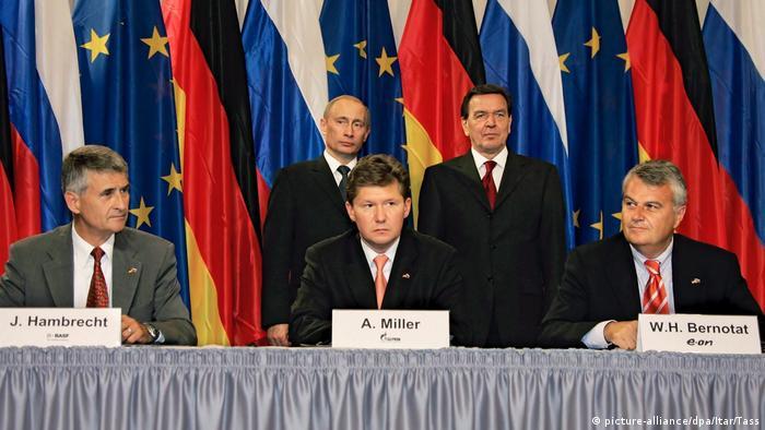 Подписание официального соглашения о Северном потоке 8 сентября2005 года в Берлине