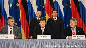 Берлин, сентябрь 2005. Подписание соглашения о строительстве первого Северного потока
