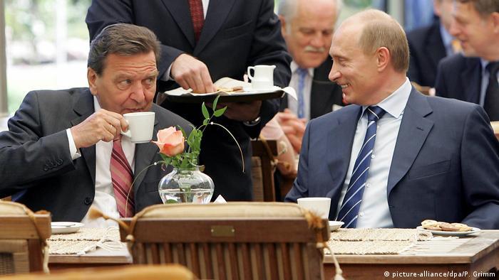 Шрёдер и Путин на праздновании 750-летия Калининграда 3 июля 2005 года
