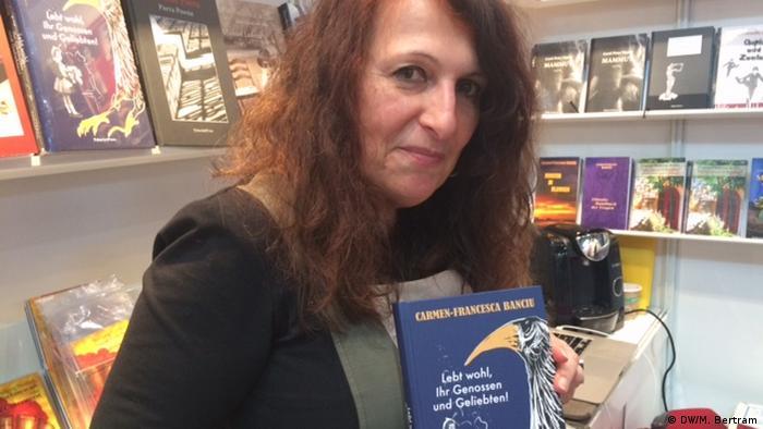 Carmen-Francesca Banciu, Schriftstellerin aus Rumänien, bei der Leipziger Buchmesse 2018