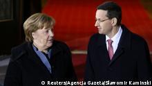 Polen Bundeskanzlerin Angela Merkel & Mateusz Morawiecki, Ministerpräsident