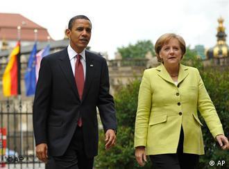 رهبران آلمان و آمریکا شایعات در مورد مشکلات میان رابطه دو کشور را رد کردند