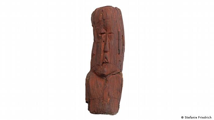 One of the missing wooden busts of the Olmec civilization that were held in Munich (Stefanie Friedrich )