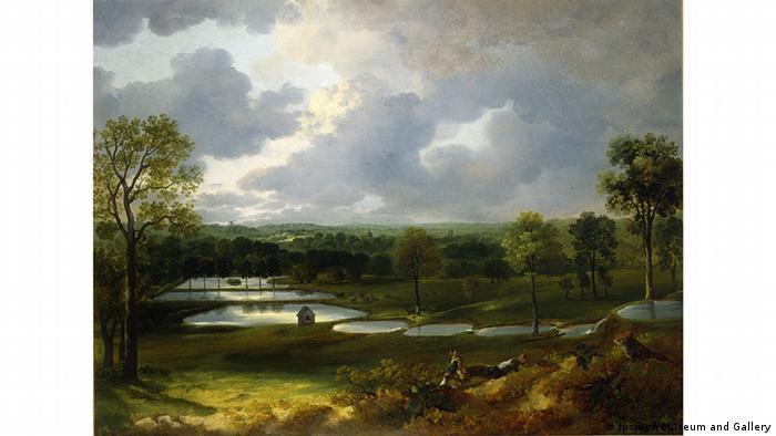 Картина Парк Холивеллз, примерно 1750 год.