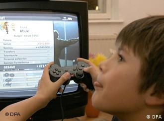 A child plays PlayStation