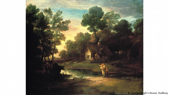 Домик у озера в лесу