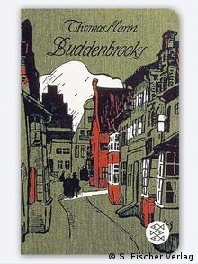Ilustração de rua com casas em enxaimel e montanha branca ao fundo