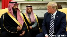 USA Mohammed bin Salman, Kronprinz Saudi-Arabien & Donald Trump in Washington (Reuters/J. Ernst)