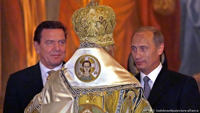 Russland Weihnachten 2001   Bundeskanzler Gerhard Schröder & Präsident Wladimir Putin