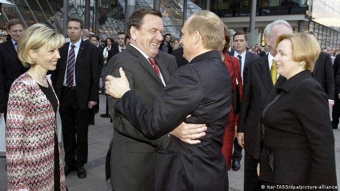 60. Geburtstag Gerhard Schröder 2004 - mit Wladimir Putin