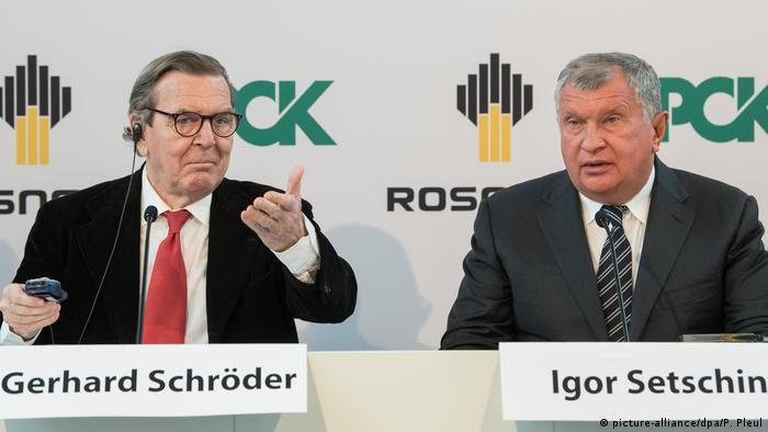Deutschland PCK-Raffinerie Brandenburg   Gerhard Schröder & Igor Setschin, Vorstandsvorsitzender Rosneft
