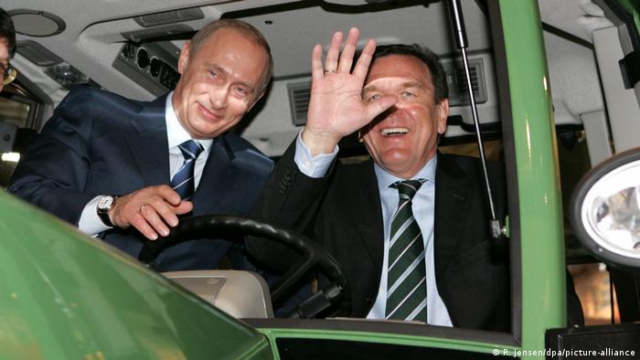 Vladimir Putin and Gerhard Schröder