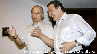 Владимир Путин и Герхард Шрёдер, Сочи, 2004 год