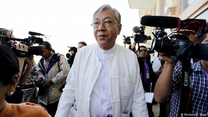 Myanmar Präsident Htin Kyaw (Reuters/S. Zeya)