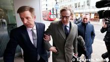 Greoßbritannien Alexander Nix CEO Cambridge Analytica in London