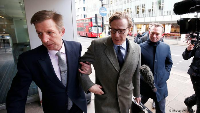 Alexander Nix, CEO of Cambridge Analytica arrives at the offices of Cambridge Analytica in central London