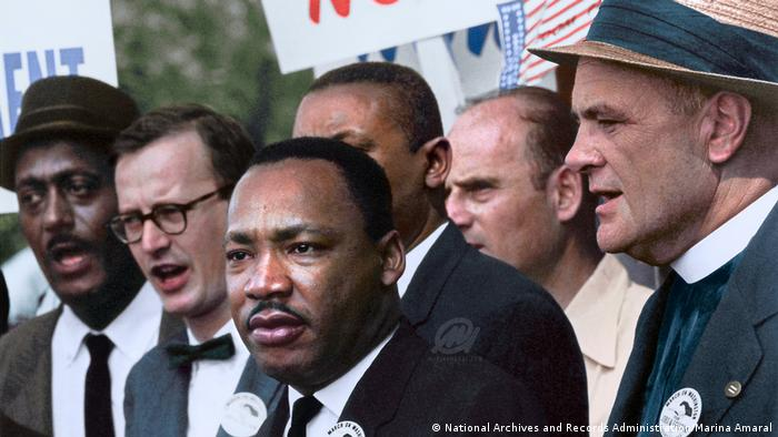Martin Luther King Jr. at the civil rights march on Washington, D.C.