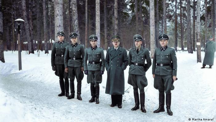 Hitler with some of his SS-Begleitkommando guards at the Wolf's Lair in East Prussia