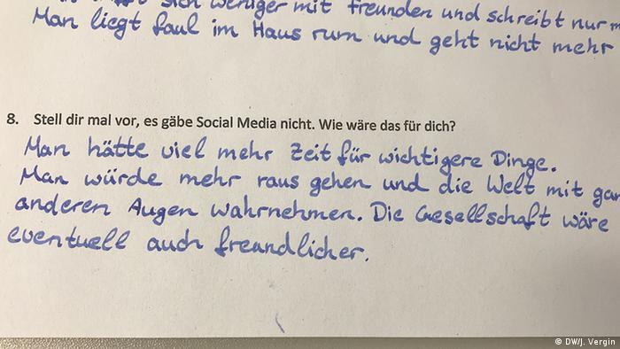 DW - Fragebogen 'Ich und die sozialen Medien'